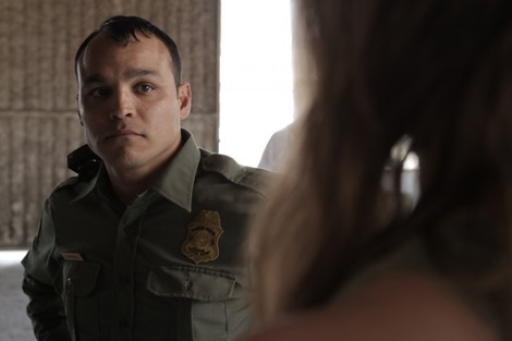 Marfa Girl Jimmy Gonzales as Hispanic border officer Oscar