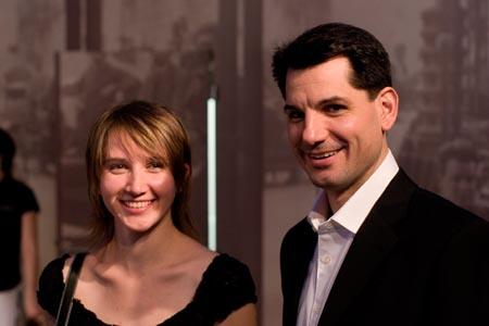 Eva Stachurova and George Miklas at Design Factory